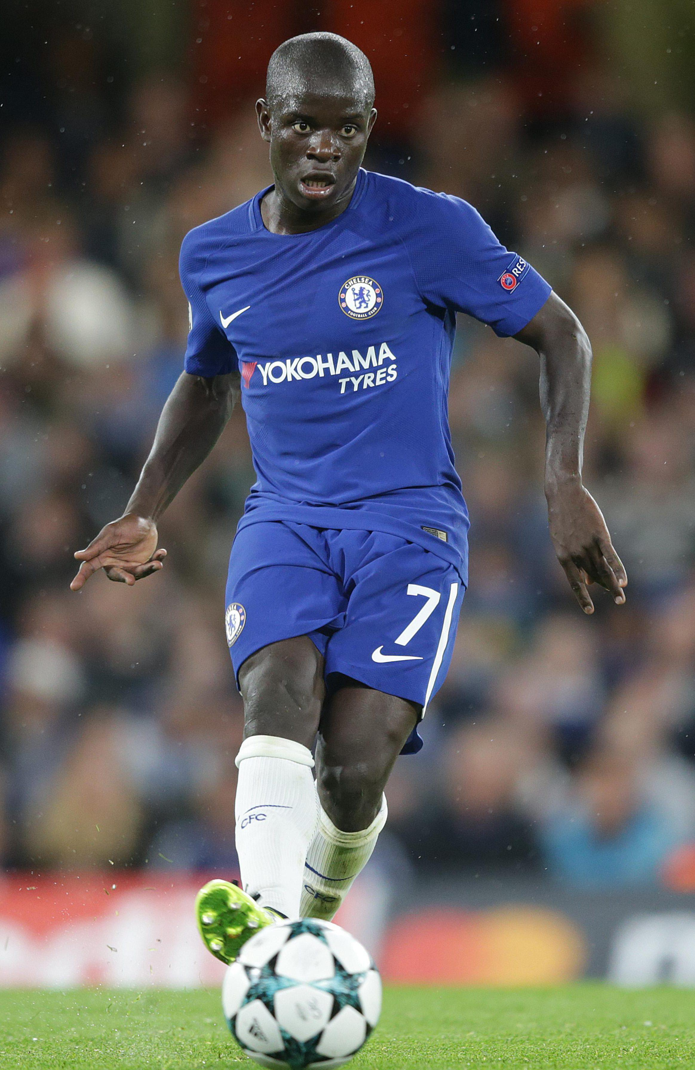 NGolo Kante has won back-to-back Premier League titles - first with Leicester, then for Chelsea
