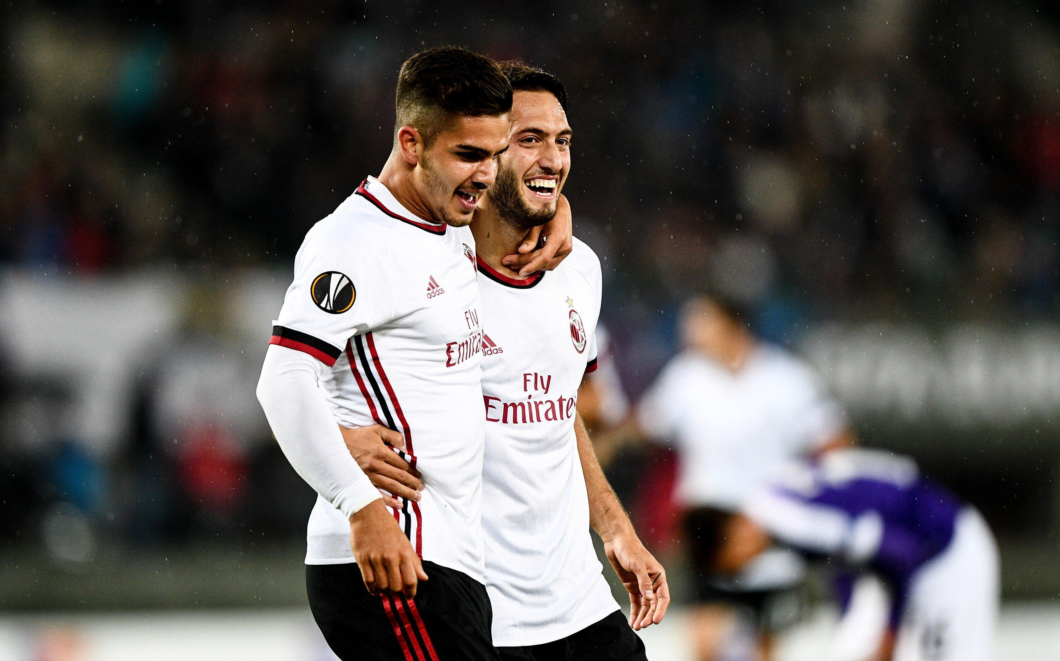 Andre Silva and Hakan Calhanoglu were the stars for AC Milan in Vienna