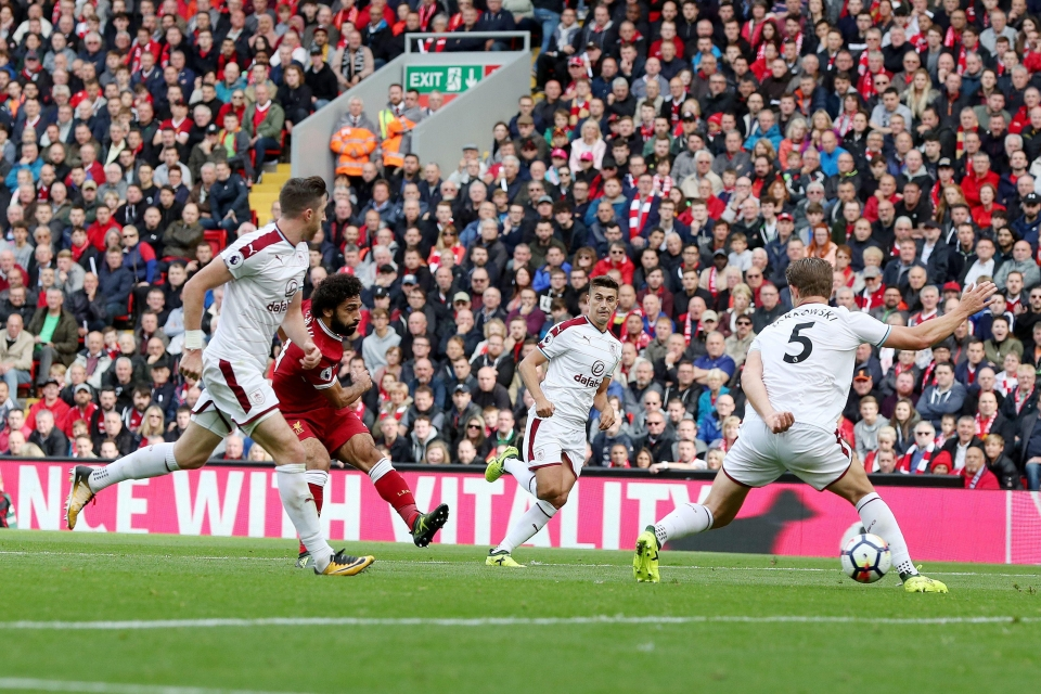 Salah equalised just three minutes after Arfield's goal