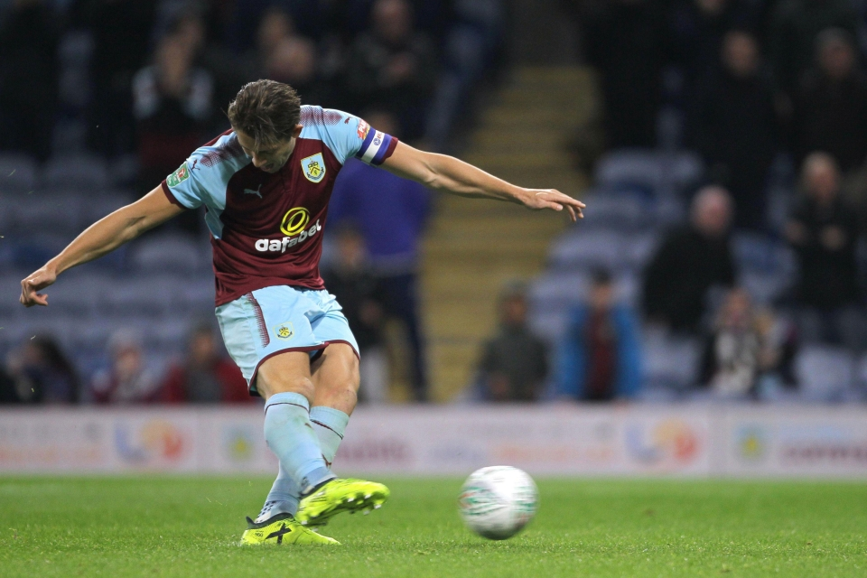 In the shoot-out, the only man to miss a penalty was Burnley captain James Tarkowski