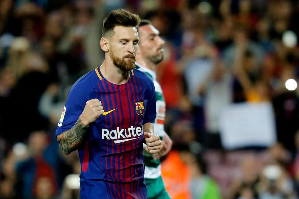 Messi scored a stunning 54 goals for Barcelona last season