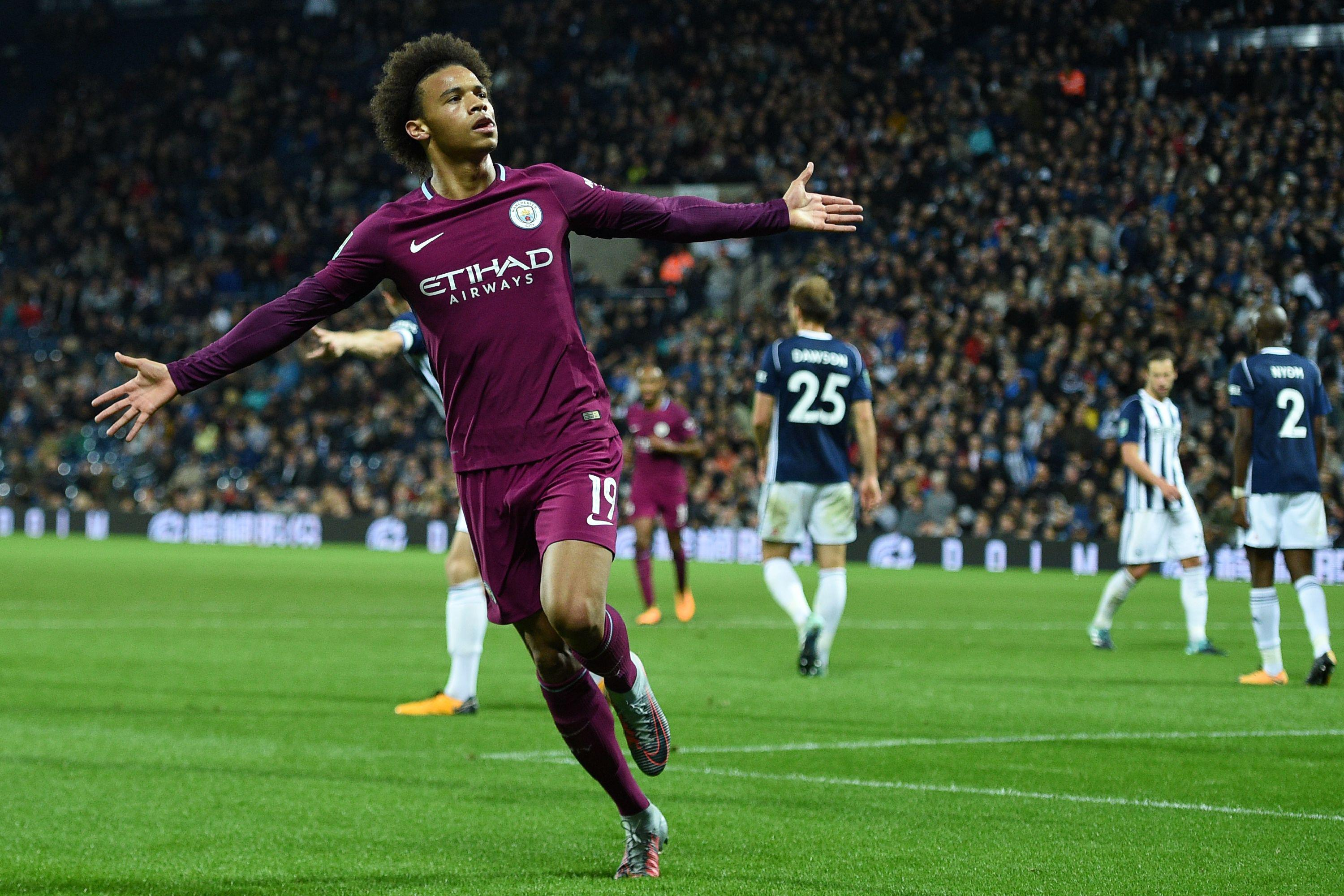 Sane was at the double for City