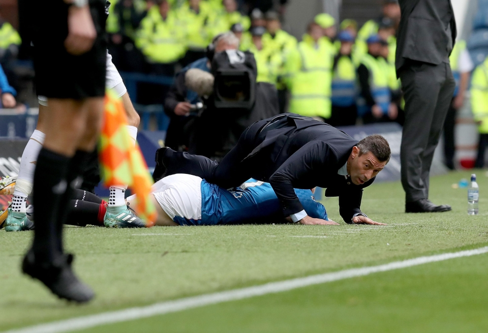 Josh Windass took out Ranger's manager Pedro Caixinha in the Old Firm derby