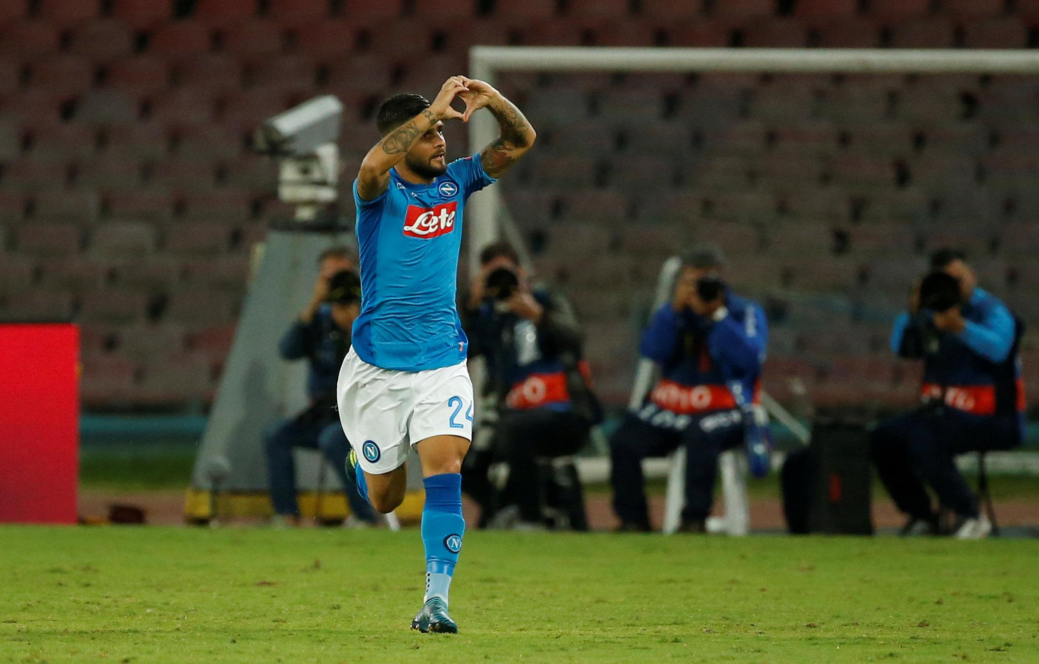 Insigne's thought turned to his injured team-mate straight away after scoring