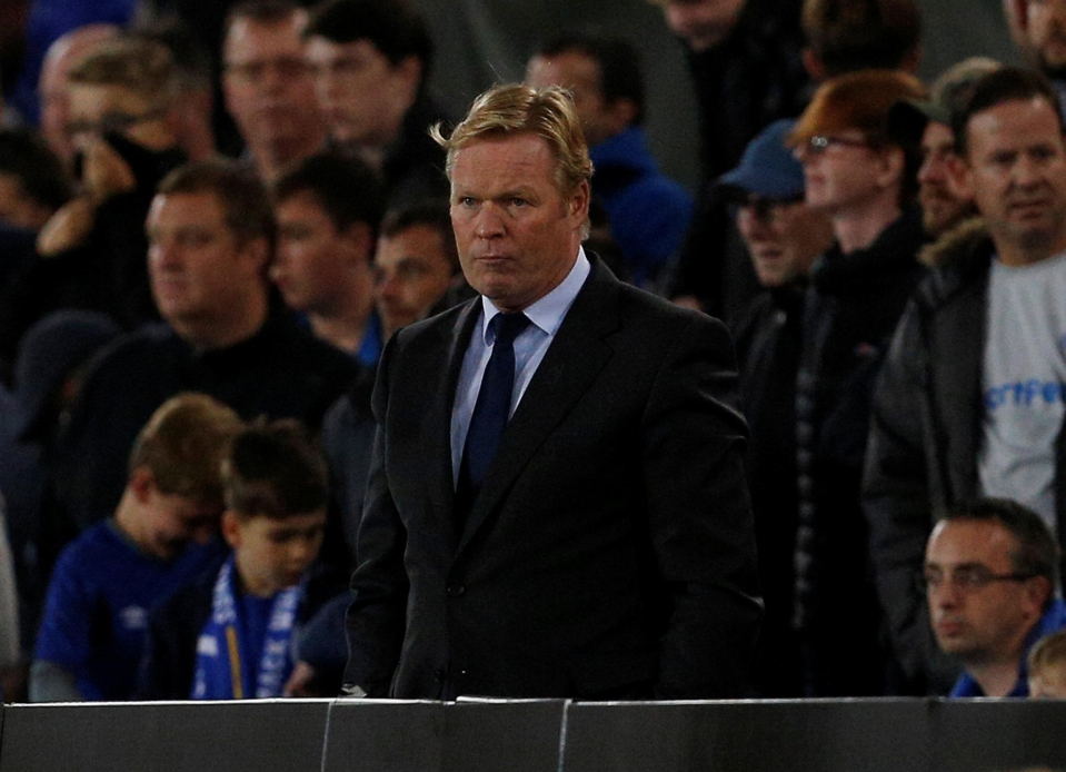 The pressure is mounting on Koeman
