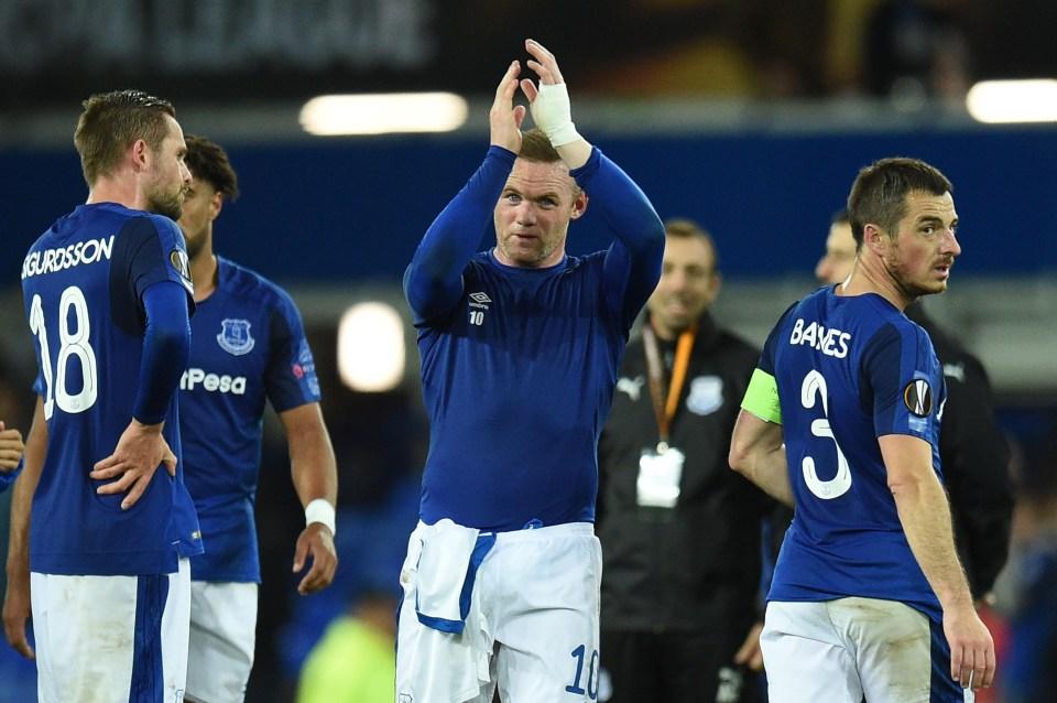 Rooney scored Everton's equaliser