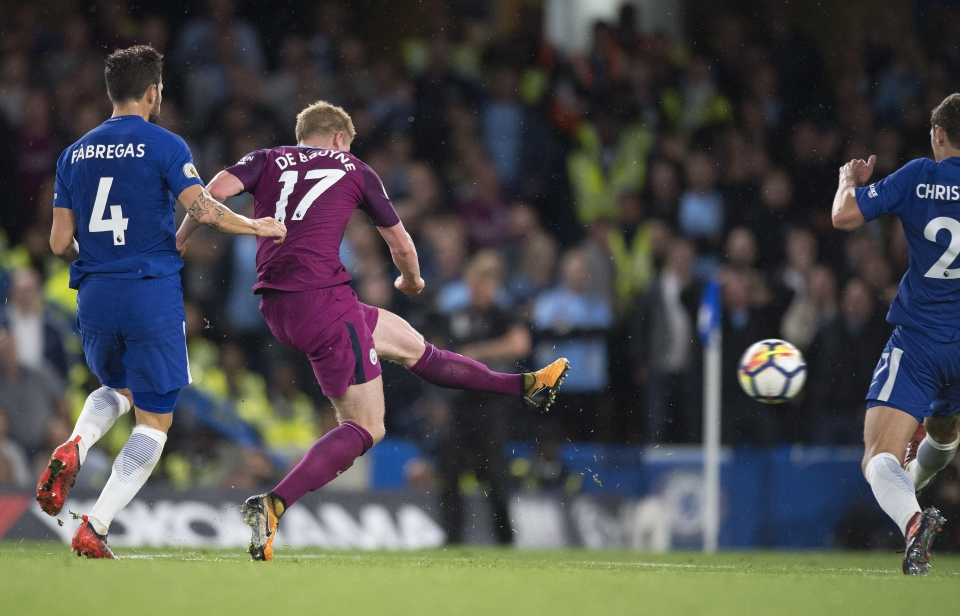 De Bruyne stuck a brilliant left-foot strike