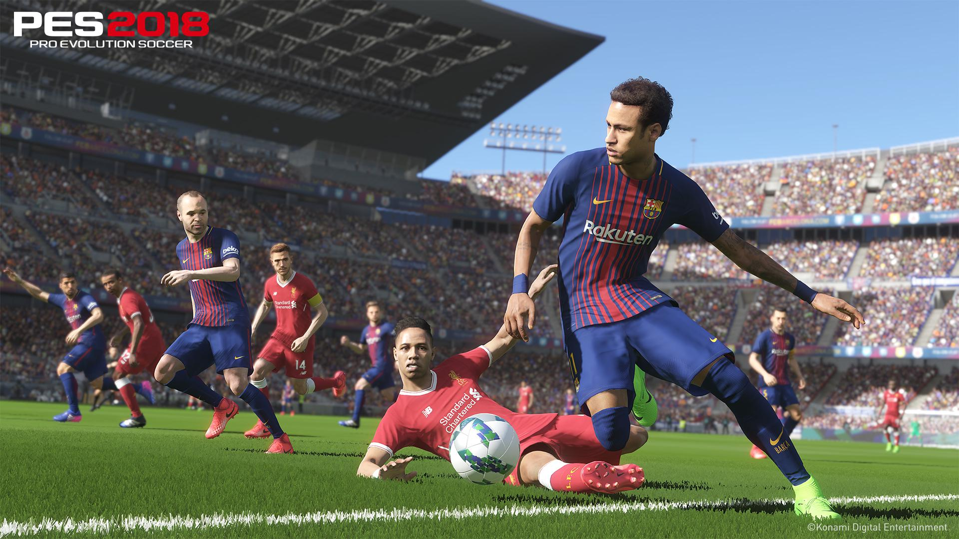 Neymar still plays for Barca in PES 2018 but a live update will fix that from the off