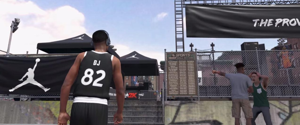 Unlike FIFA 18's The Journey, NBA2K18 has a whole region for you to explore