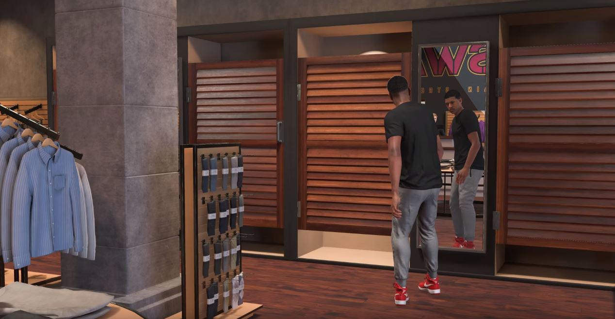 Just like in Grand Theft Auto – you're able to pick outfits and customise your appearance
