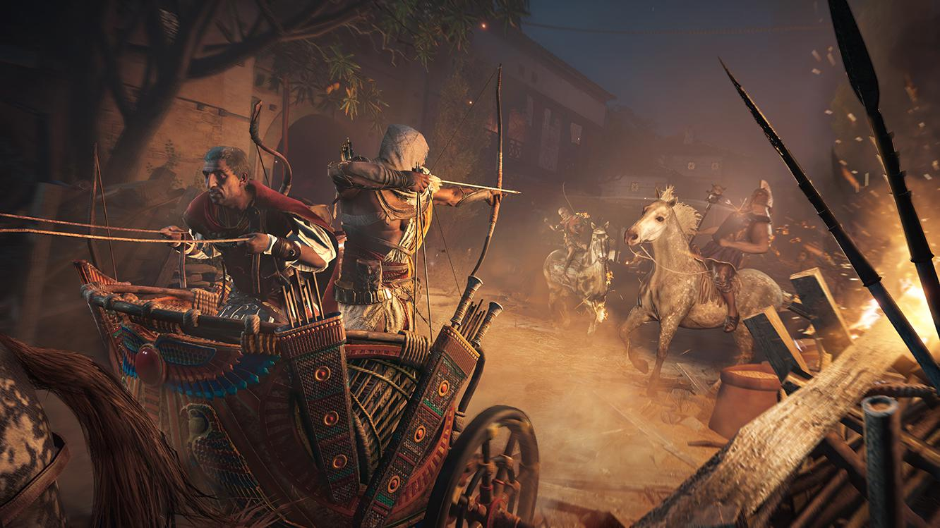 Expect plenty of set pieces – such as chariot fighting and vehicular combat