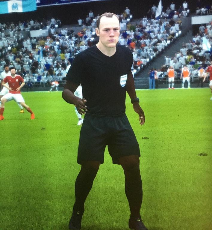 This FIFA ref seems to have had a successful head transplant