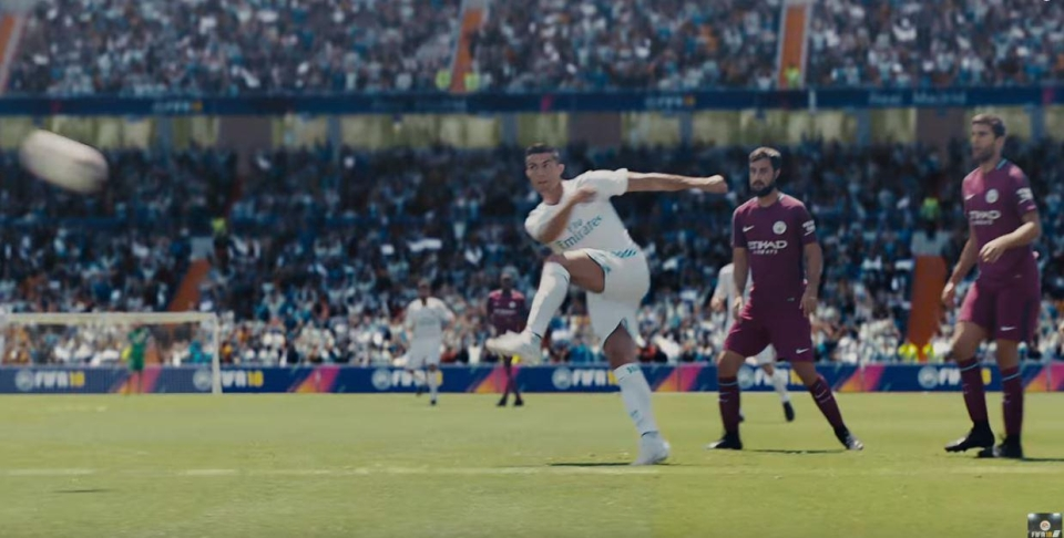 Ronaldo showed off the El Tornado in the FIFA 18 launch advert – as EA continues to blur the lines between the virtual and real life