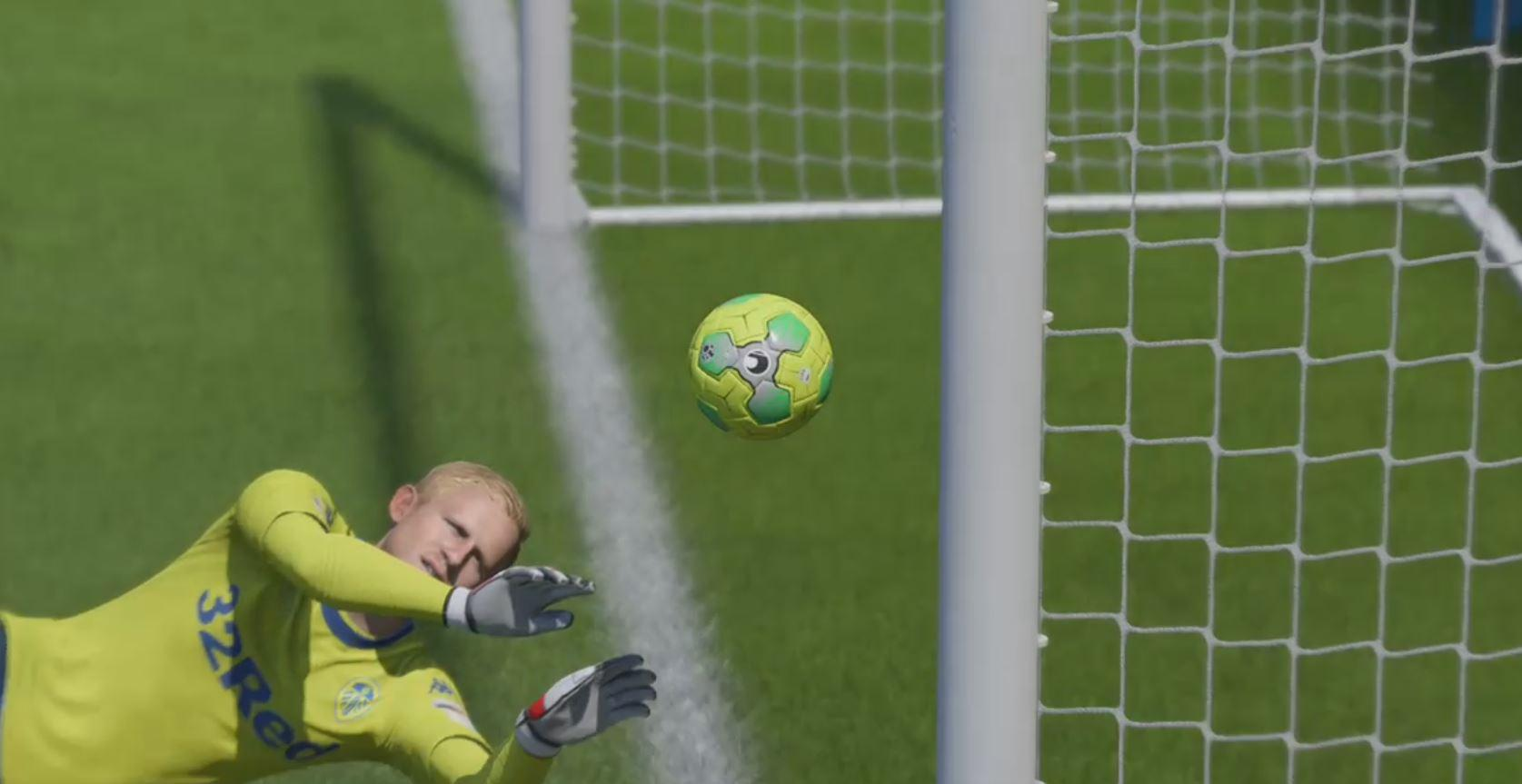 The ball flies towards the net – surely a goal is imminent?