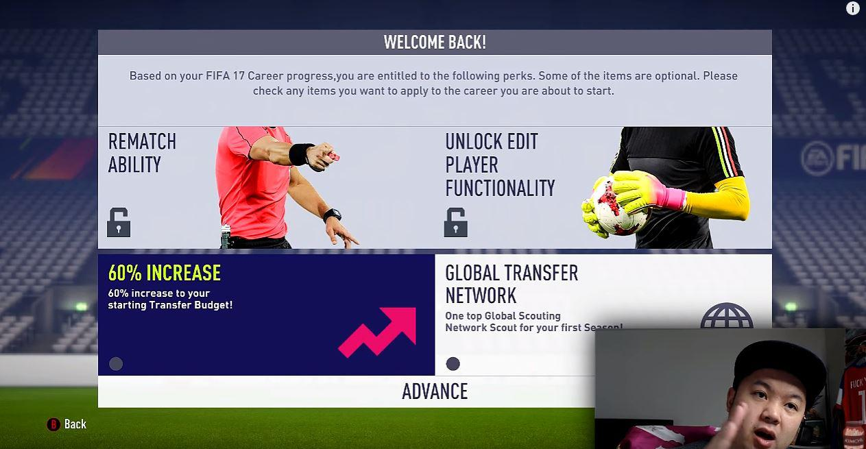 To make life easier, make sure you have the 60% Transfer Budget increase