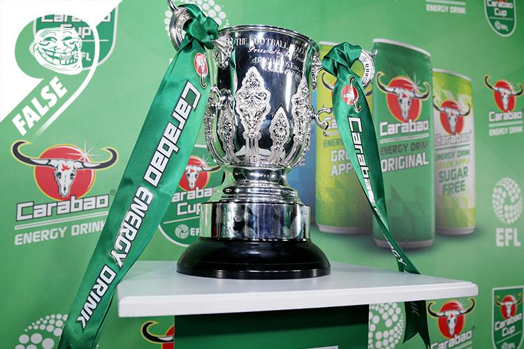 The Carabao Cup itself