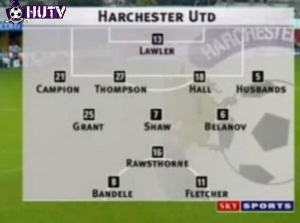 How a typical Harchester United line-up looked