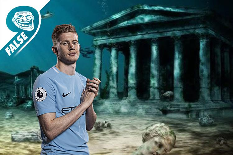 Kevin De Bruyne standing by the site