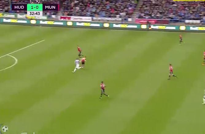 Lindelof was first caught out by a long goal kick
