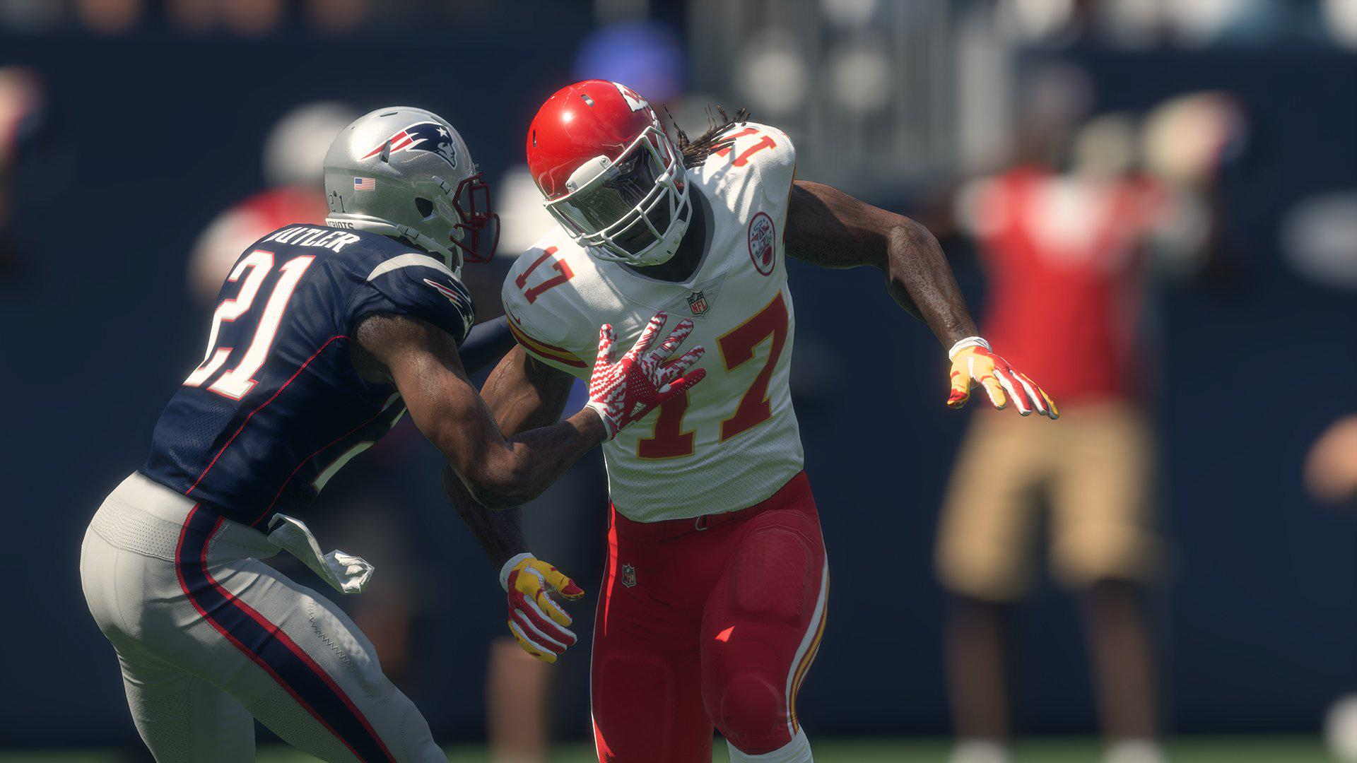 Madden uses the Frostbite engine to great effect – although player models look stiff when compared with FIFA 18