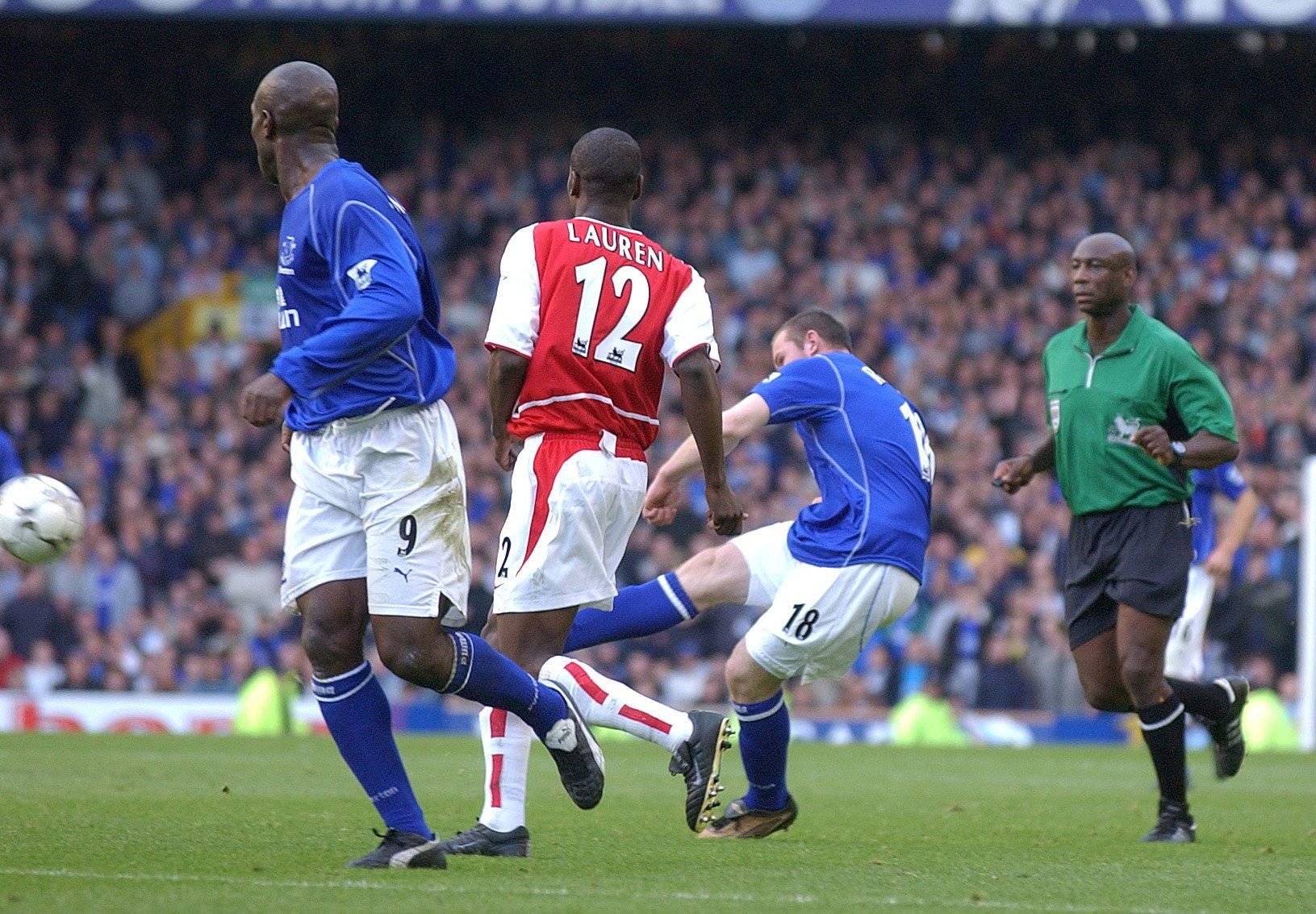 Rooney curls home one of the most memorable goals in Premier League history