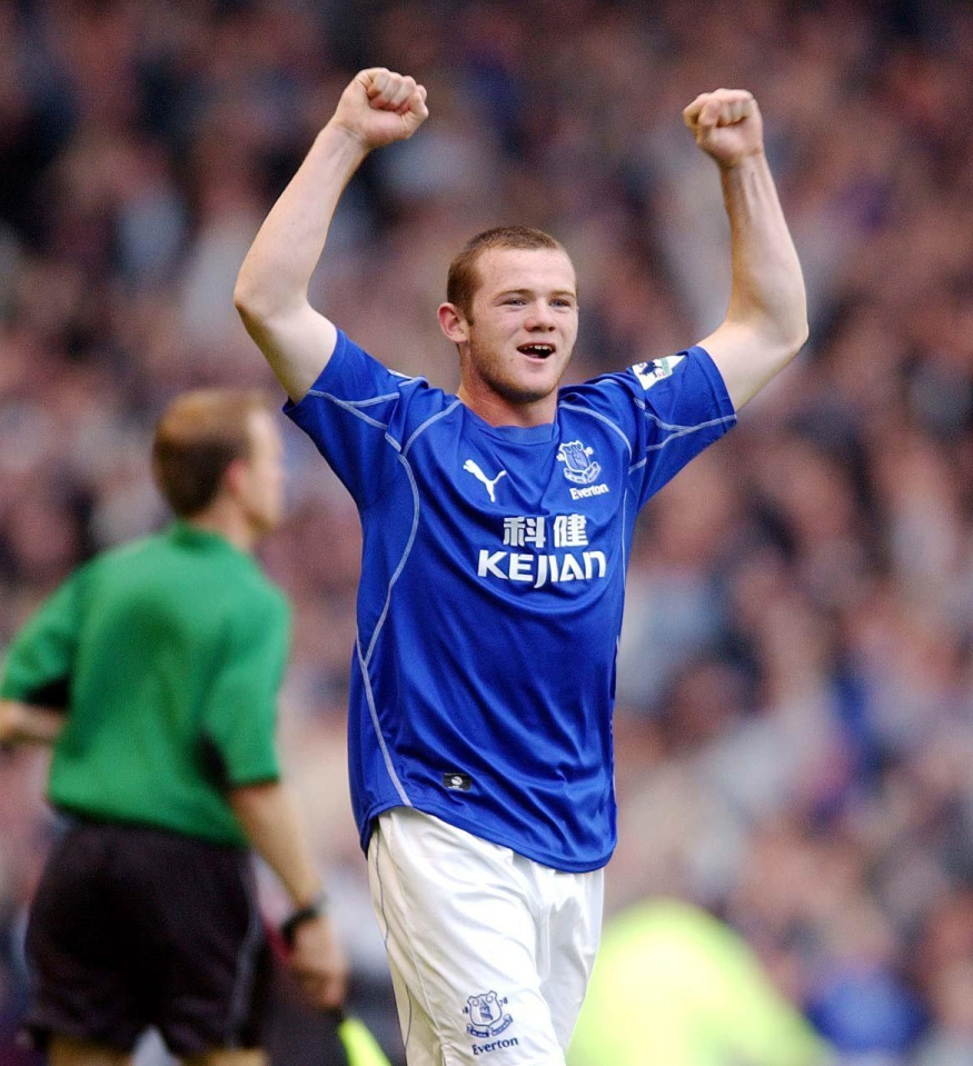 A fresh faced Rooney celebrates in 2002
