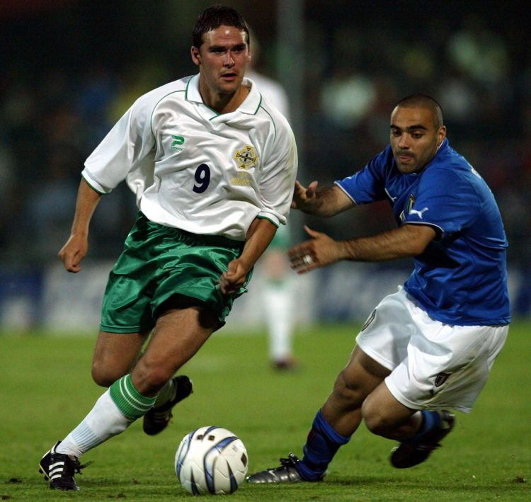 Miccoli played ten times for Italy