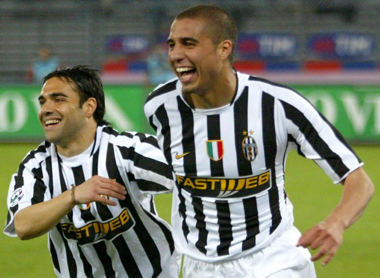Miccoli (left) during his time at Juventus
