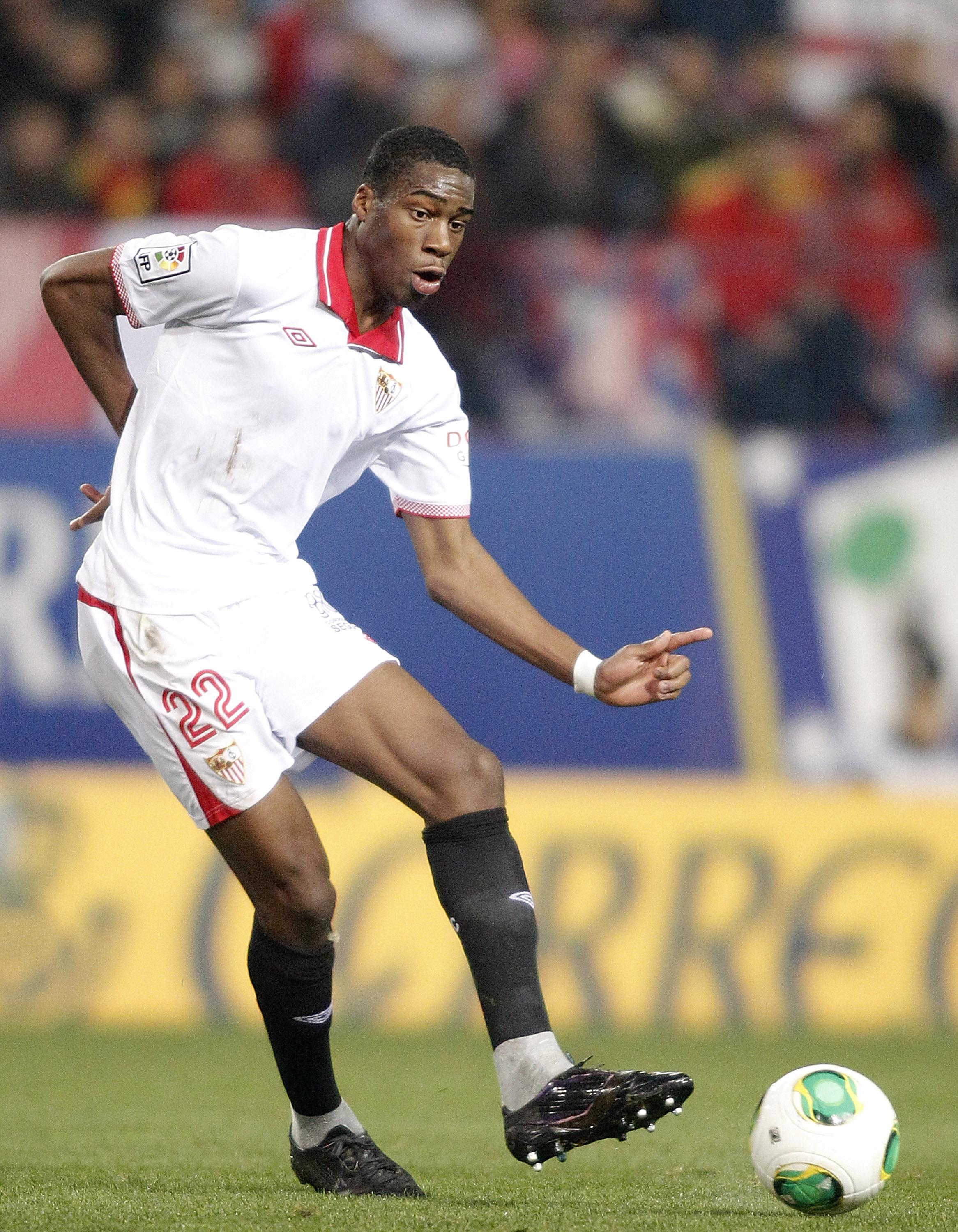 Kondogbia was sent off during a game at Sevilla