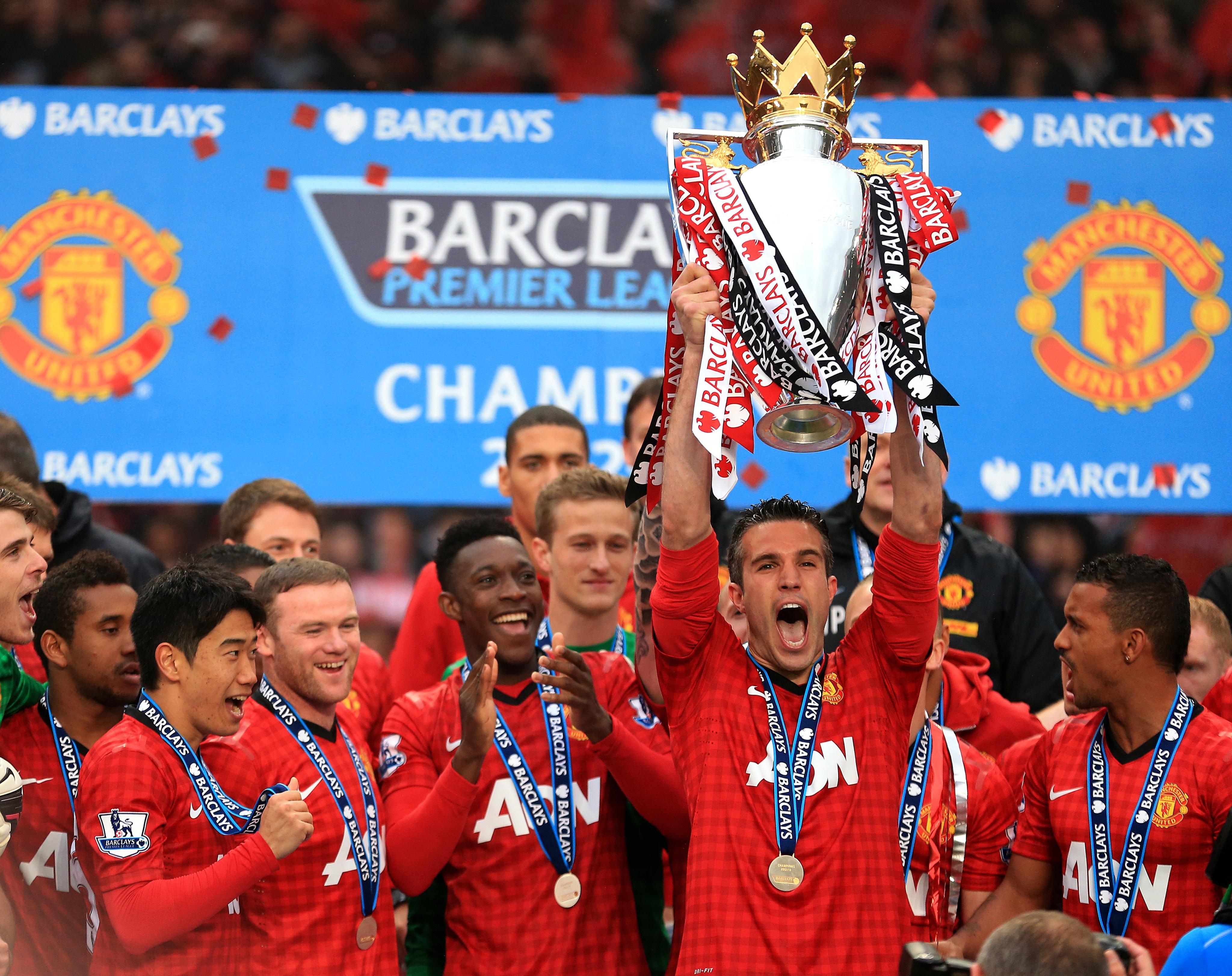 Van Persie was instrumental to United winning their most-recent Premier League trophy