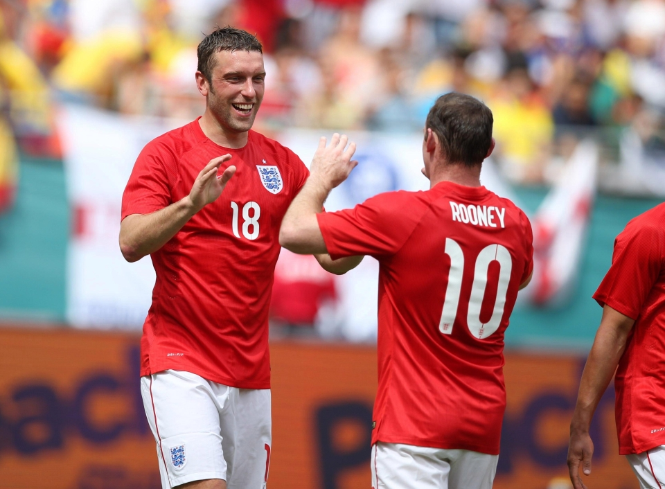 Lambert scored with his first touch on his England debut