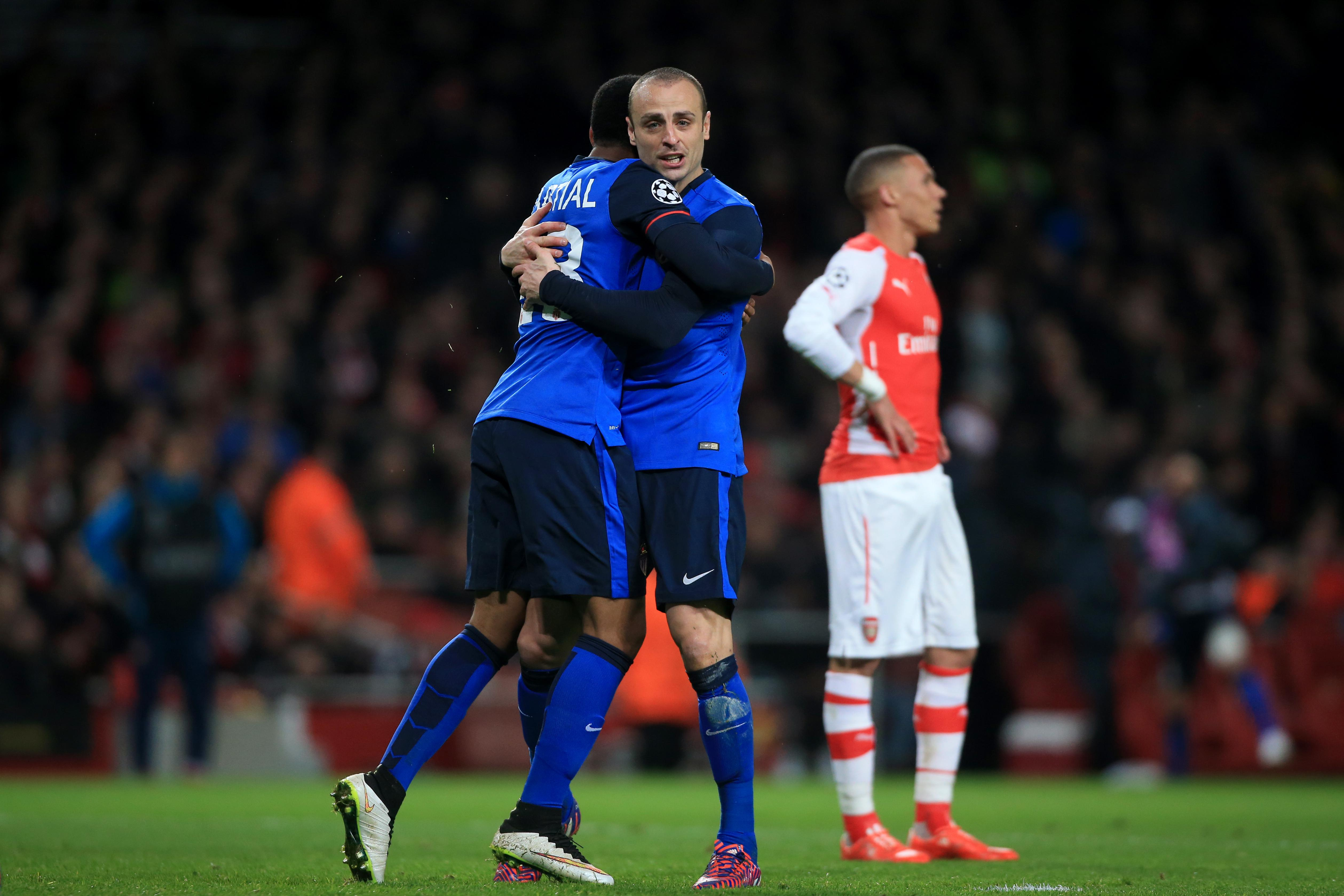 Martial and Berbatov were part of the Monaco side that knocked Arsenal out of the Champions League in 2015