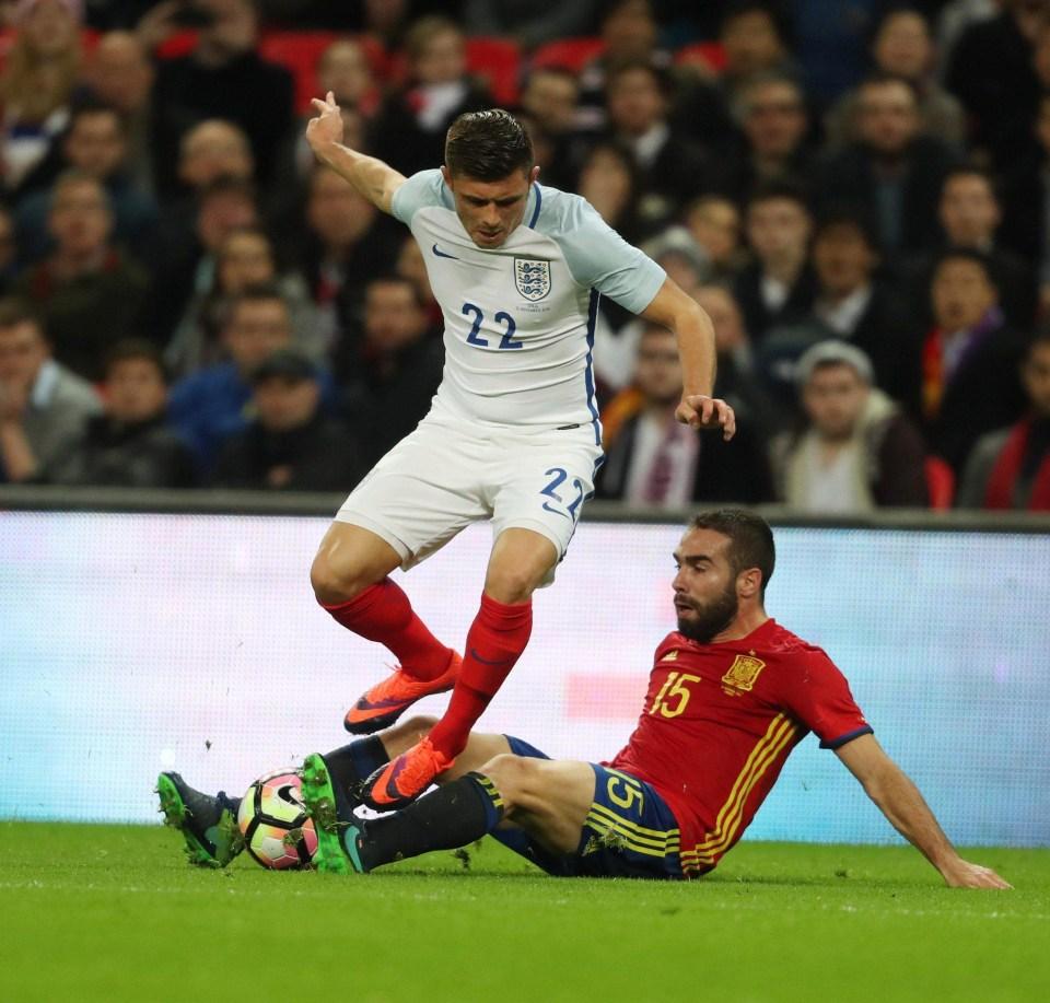 Spain international Dani Carvajal in action against England in November