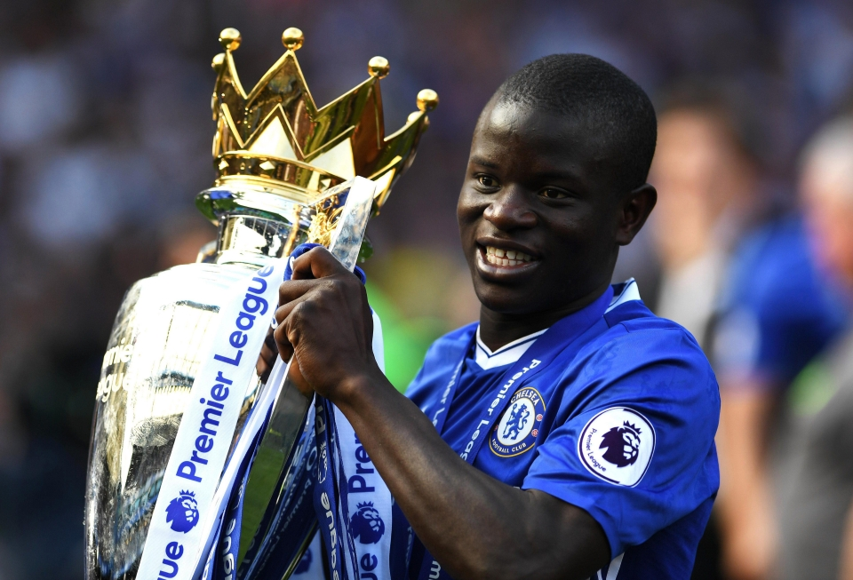 NGolo Kante won the Premier League in back-to-back seasons with two different clubs