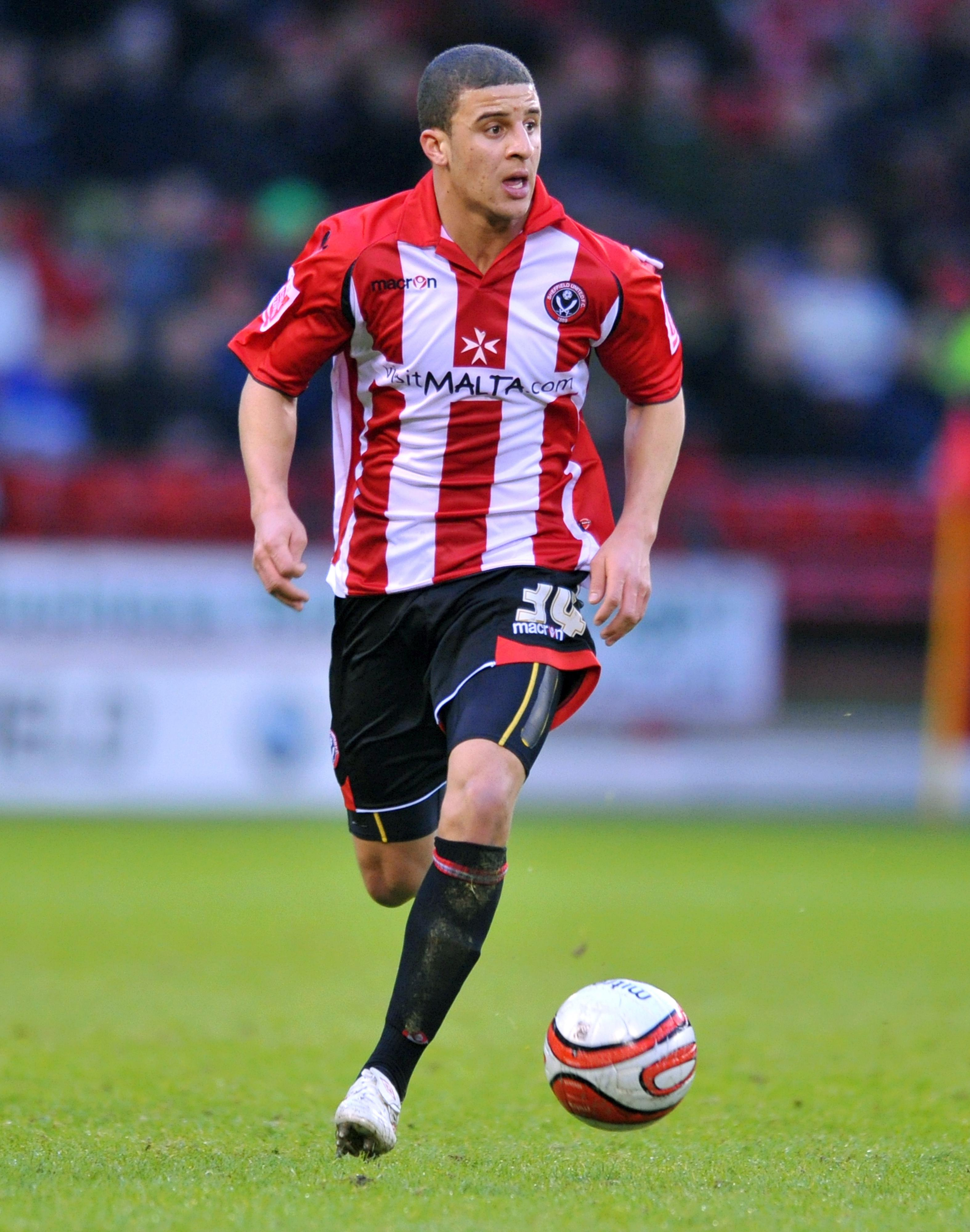 The full-back started his career at Sheffield United