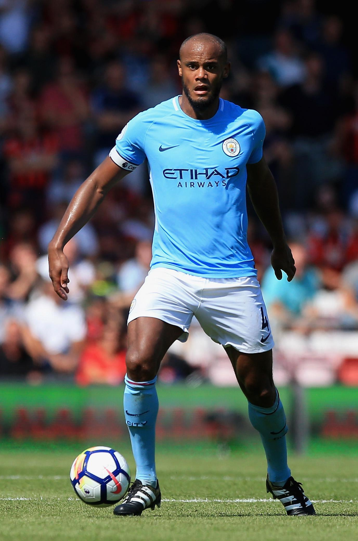 Vincent Kompany is still sidelined for City through injury