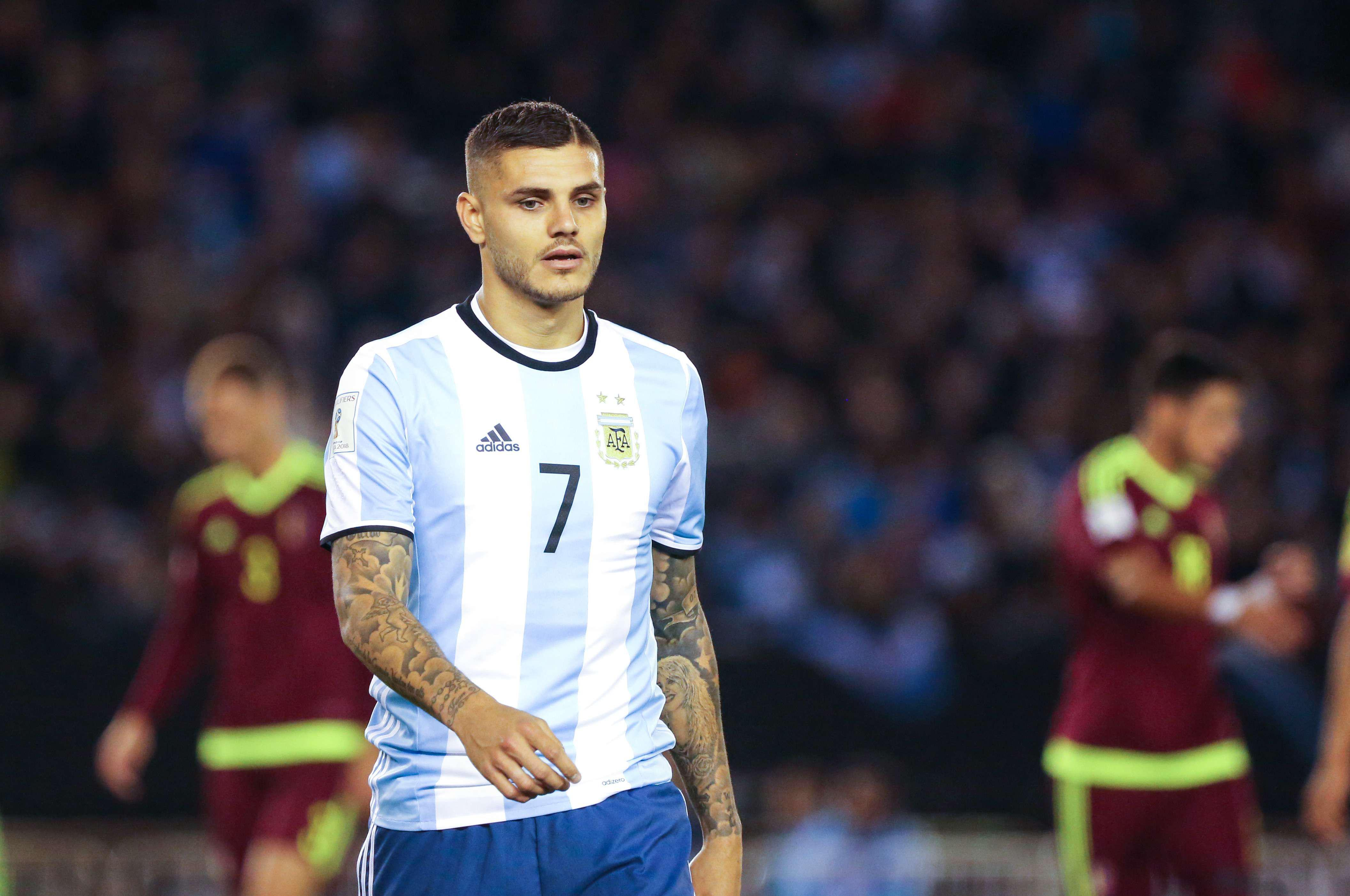 """The Argentina coach says Icardi has """"physical problems"""" that will keep him from the starting XI"""
