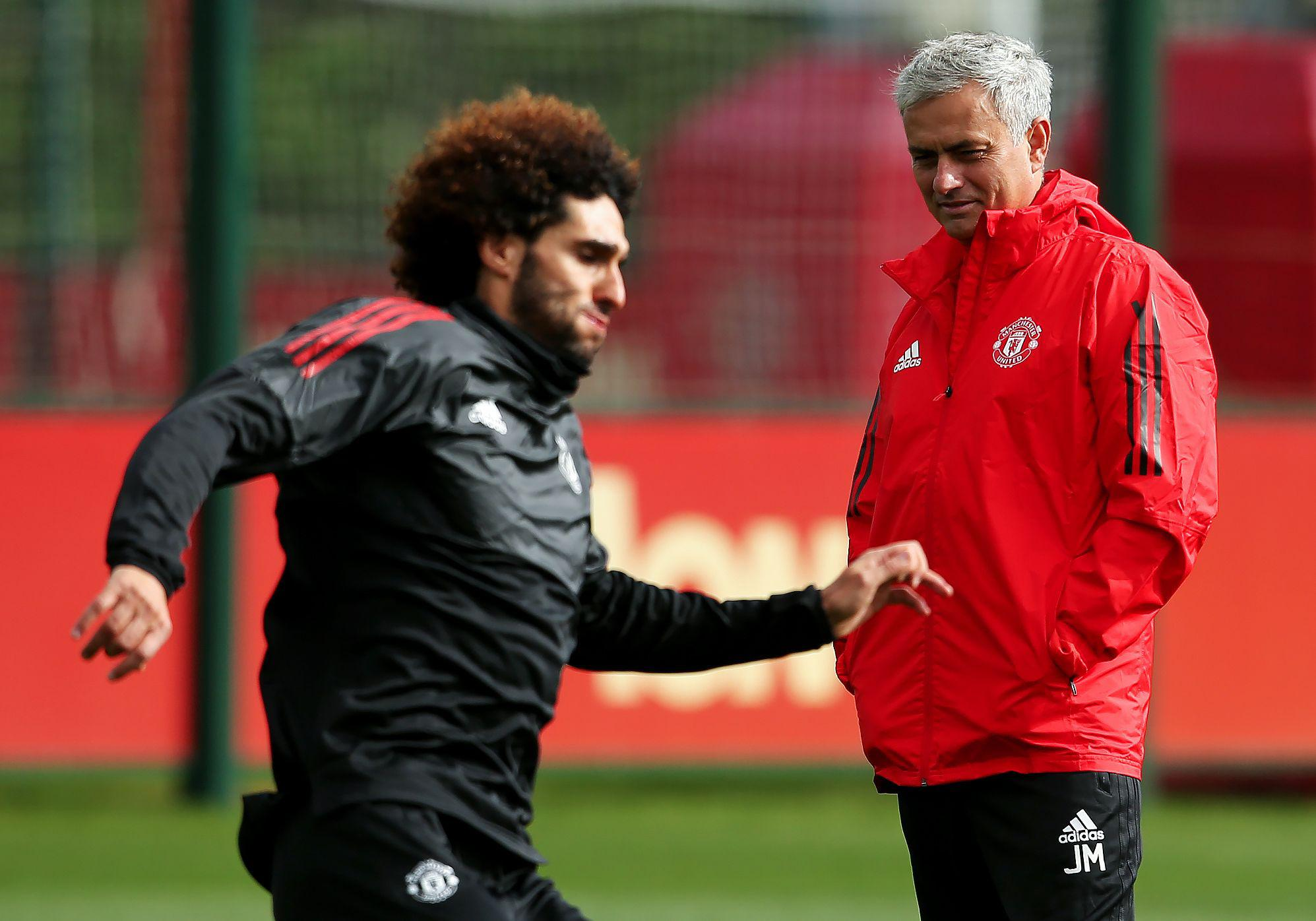Fellaini's contract is set to expire at the end of the season