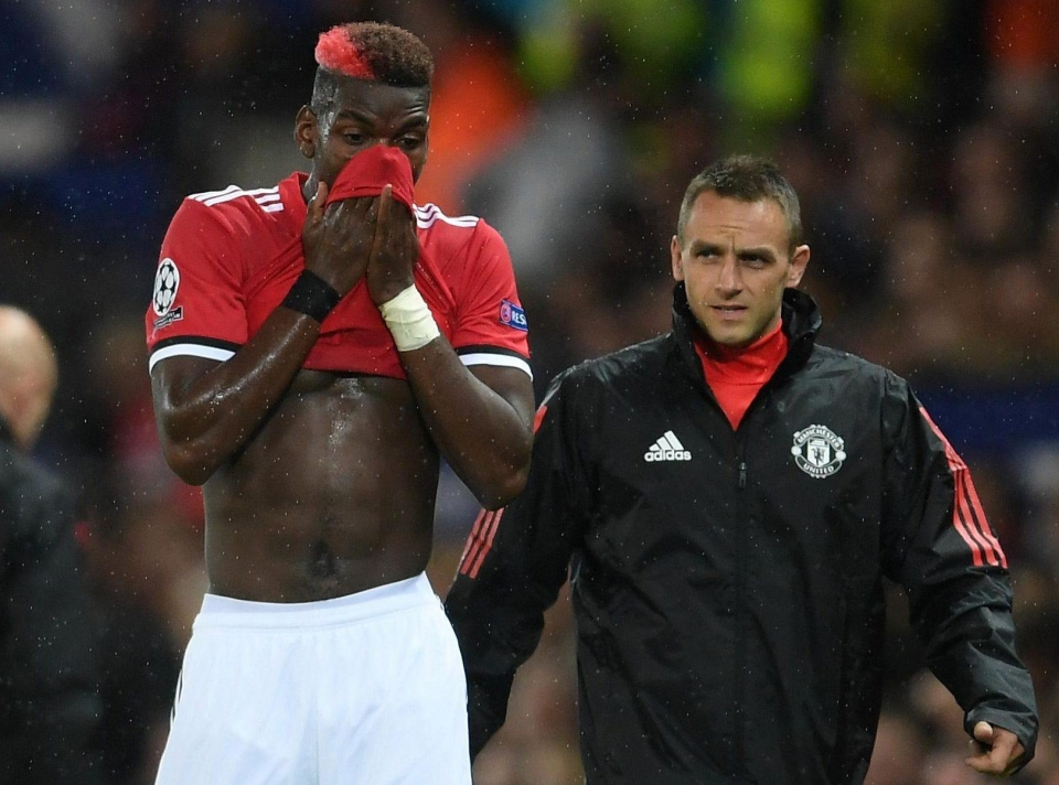Pogba pulled a hamstring in September
