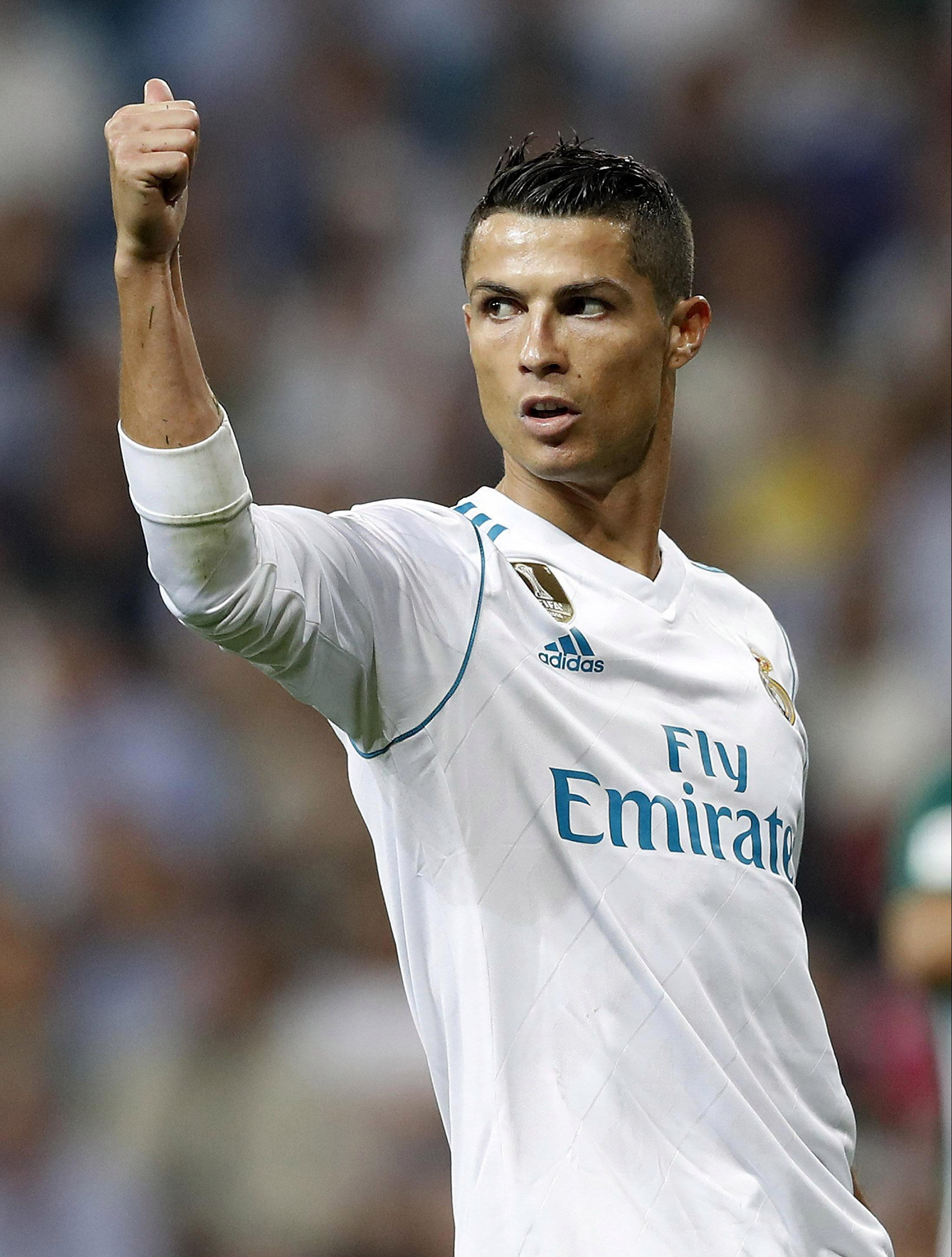 """Cristiano Ronaldo has revealed he has """"Dream of a child"""" printed on all his boots"""