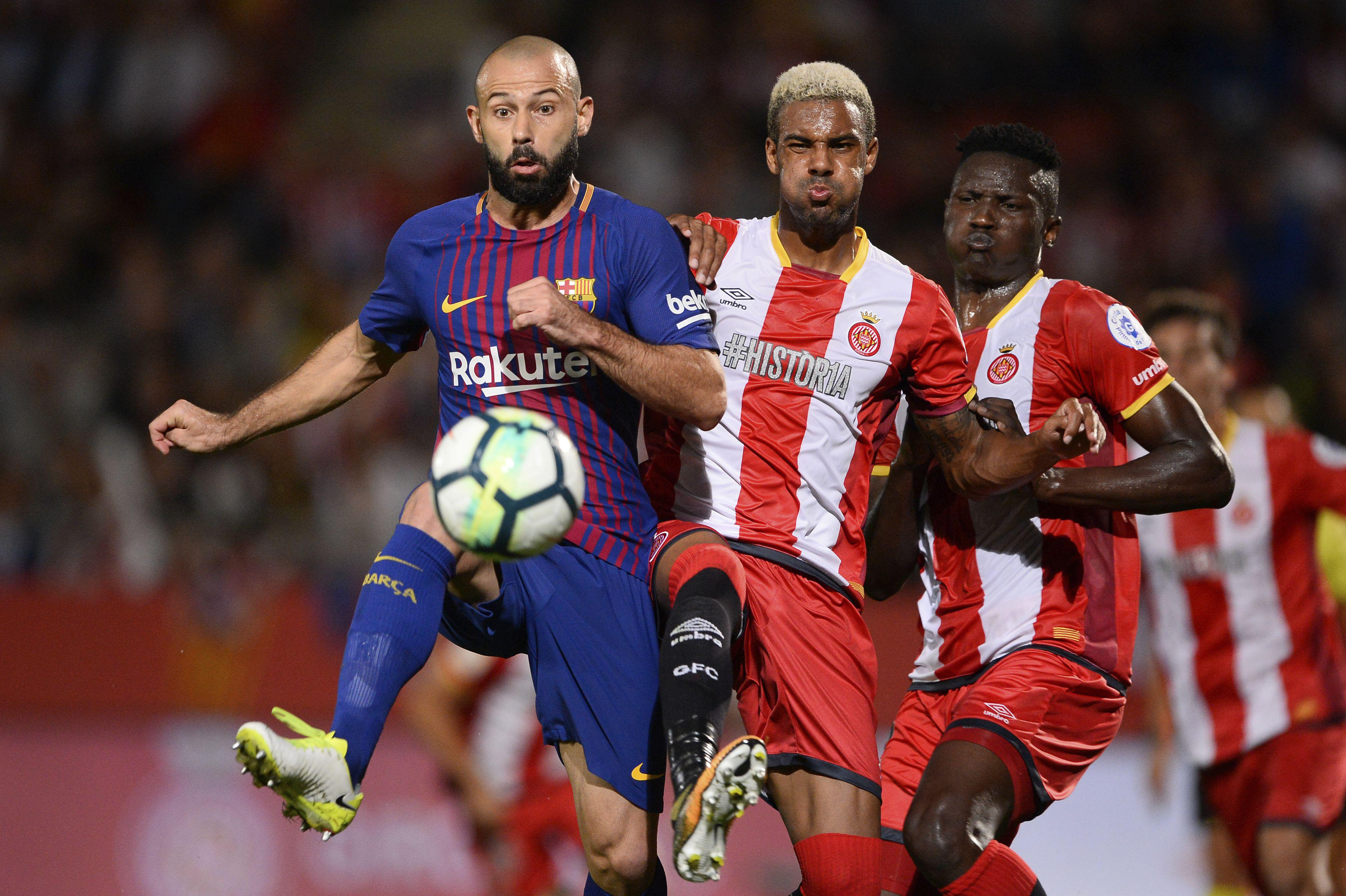 Mascherano has been a bit-part player for Barca this season