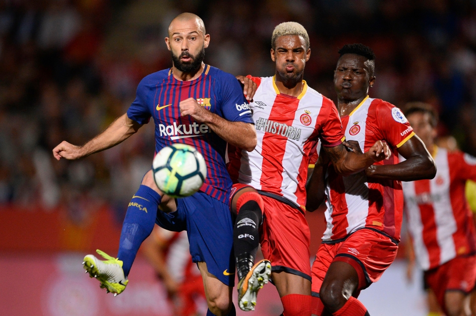 Mascherano has been a bit-part player for Barca this season
