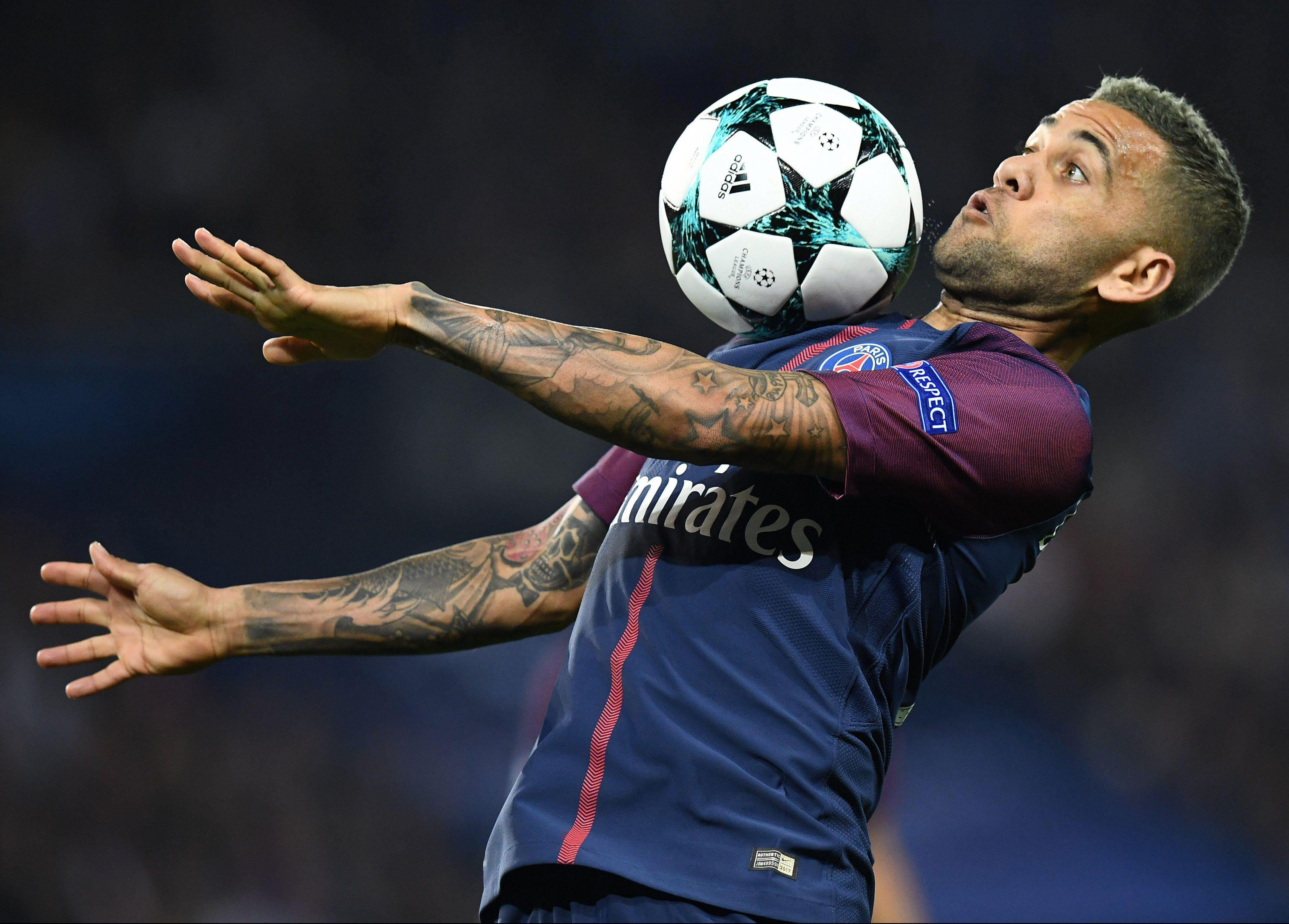 Brazil veteran Dani Alves has been the first-choice for PSG in the Champions League