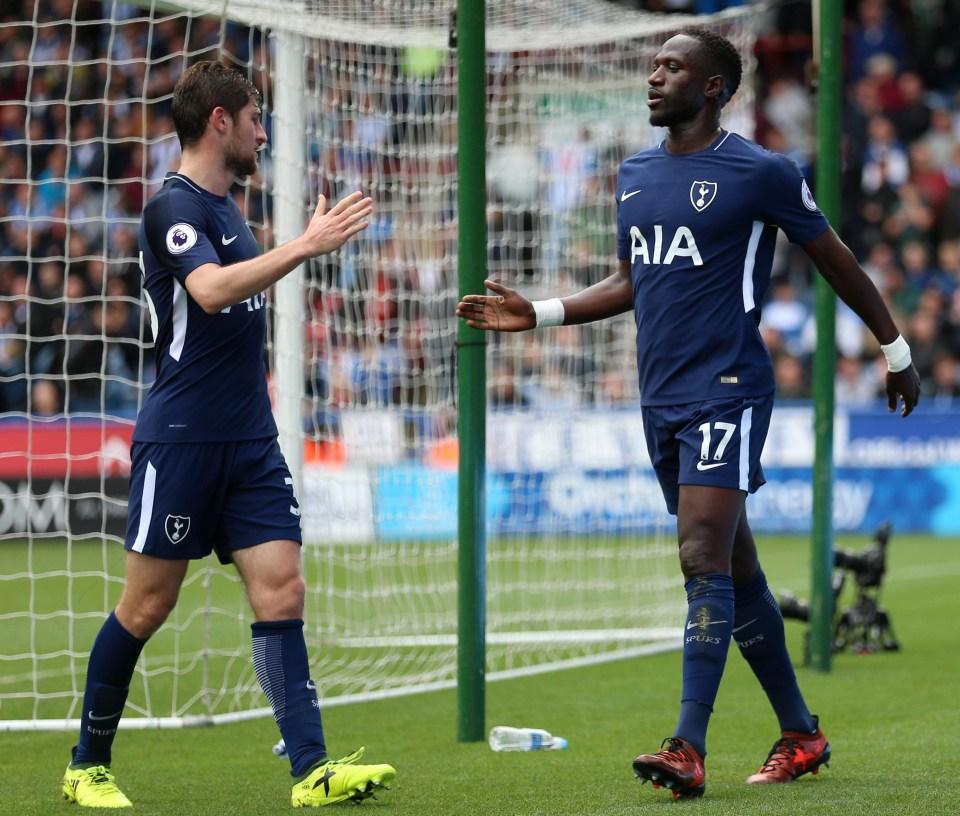 Davies set-up Moussa Sissoko for Tottenham's fourth goal on Saturday
