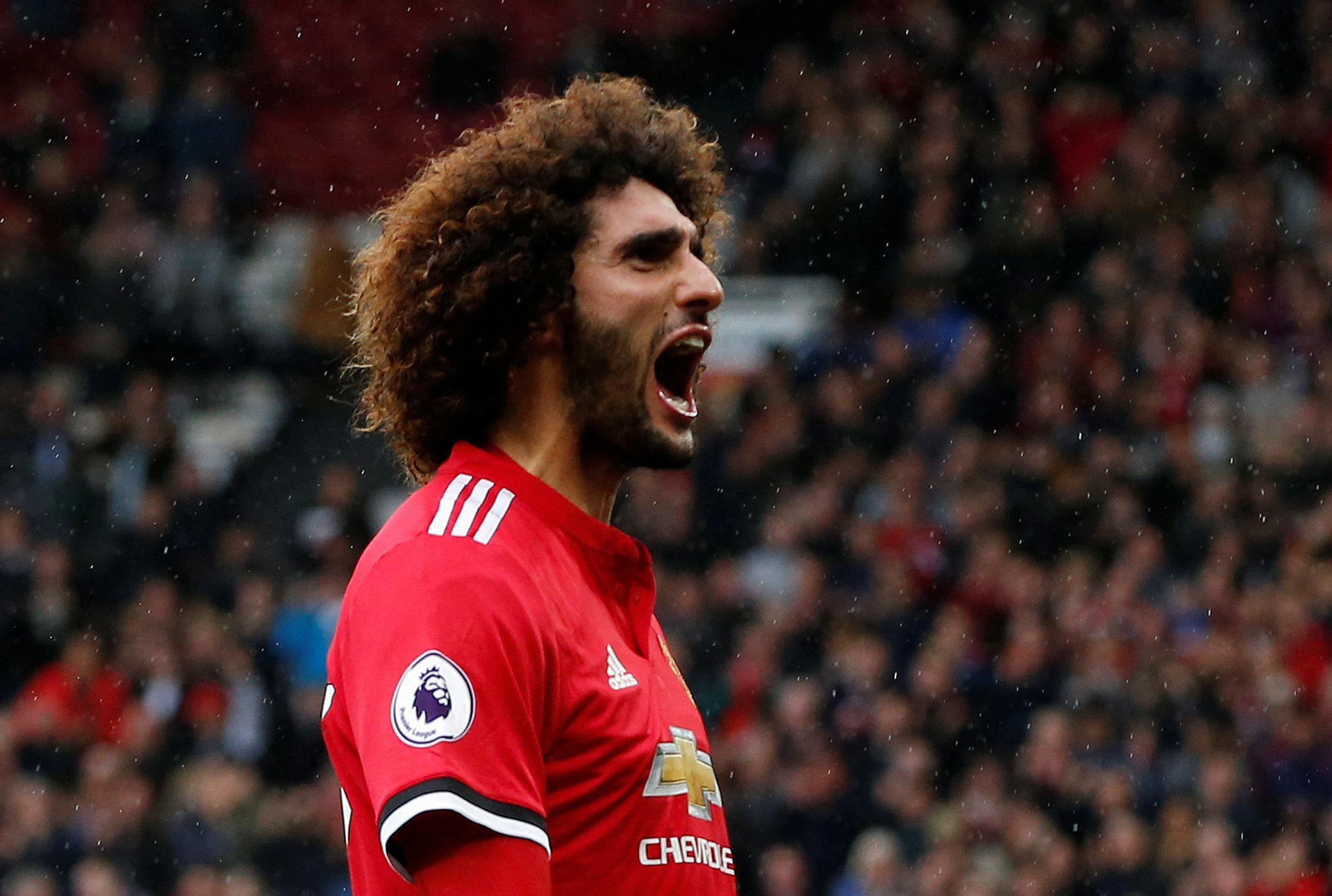 Marouane Fellaini had been in superb form for Man United this season