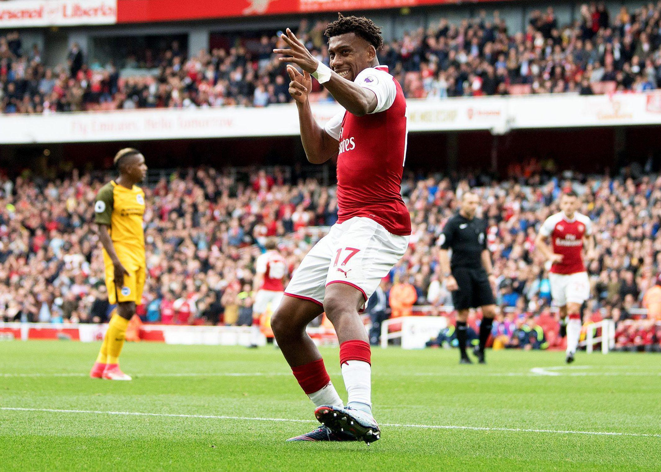 Iwobi scored a brilliant goal against Brighton