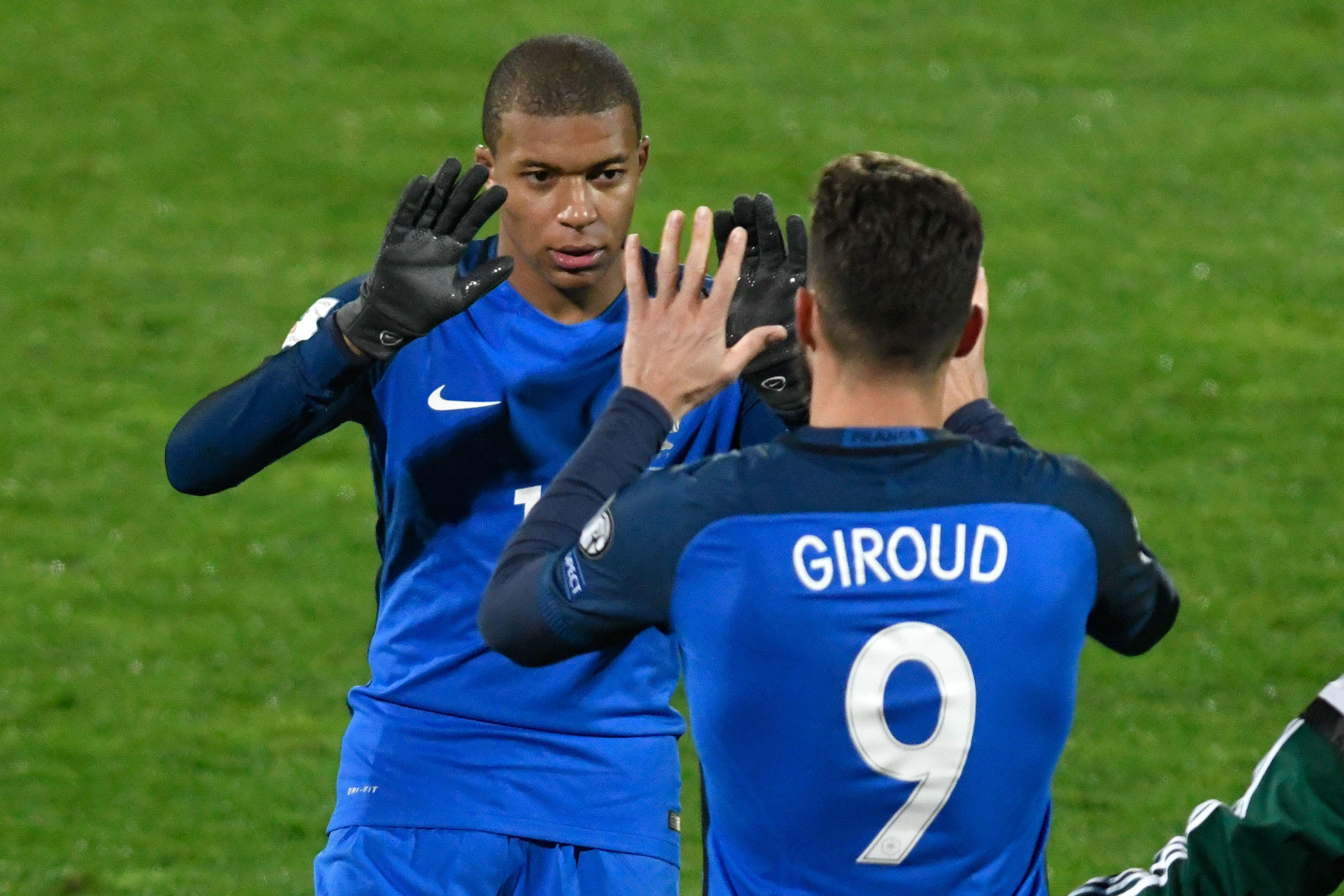 Giroud replaced Mbappe against Bulgaria with seven minutes to go