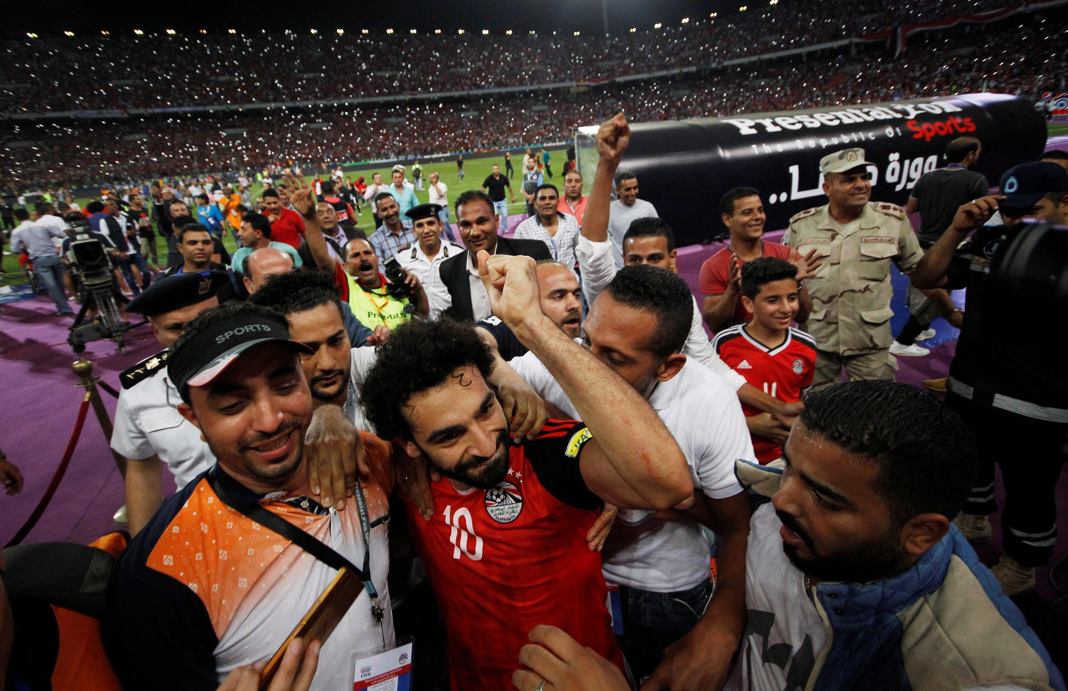 Salah was mobbed for his Egypt heroics
