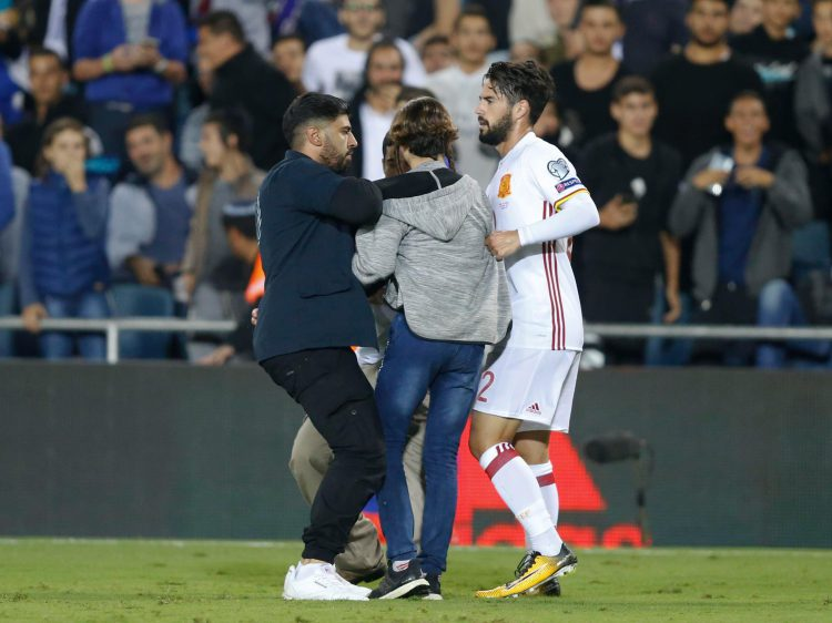 Isco was approached by fans after the game finished