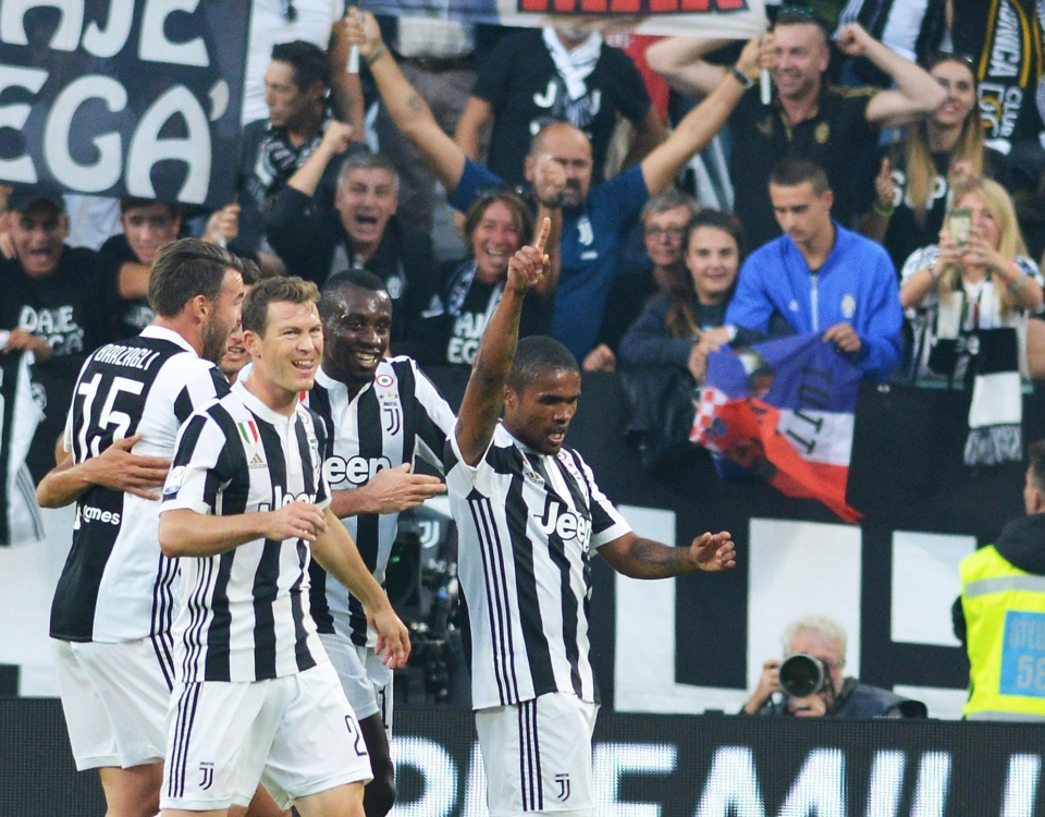 Douglas Costa seems to be enjoying life at Juventus after a mixed time at Bayern Munich